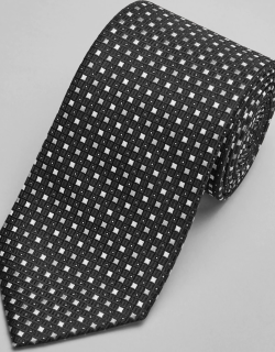 JoS. A. Bank Men's Reserve Collection Square Dot Tie, Black, One