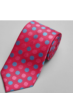 JoS. A. Bank Men's Reserve Collection Dot Tie, Pink, One