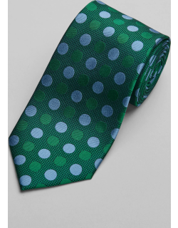JoS. A. Bank Men's Reserve Collection Dot Tie, Green, One