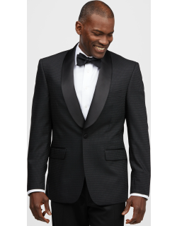 JoS. A. Bank Men's Reserve Collection Tailored Fit Check Sportcoat Clearance, Black, 42 Regular