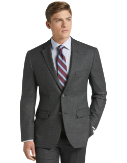 JoS. A. Bank Men's Travel Tech Collection Tailored Fit Sportcoat Clearance, Dark Grey, 44 Regular