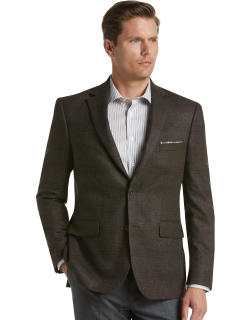 JoS. A. Bank Men's Reserve Collection Tailored Fit Plaid Sportcoat Clearance, Olive, 44 Regular