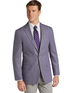 JoS. A. Bank Men's 1905 Collection Tailored Fit Sportcoat Clearance, Purple, 43 Regular