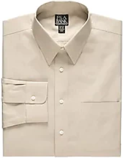 Traveler Collection Slim Fit Point Collar Dress Shirt CLEARANCE, by JoS. A. Bank