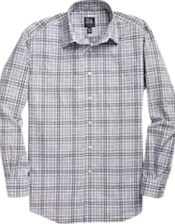 Traveler Collection Traditional Fit Spread Collar Check Men's Sportshirt - Big & Tall CLEARANCE