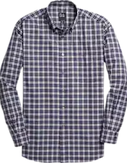 Traveler Collection Traditional Fit Button-Down Collar Plaid Men's Sportshirt - Big & Tall CLEARANCE