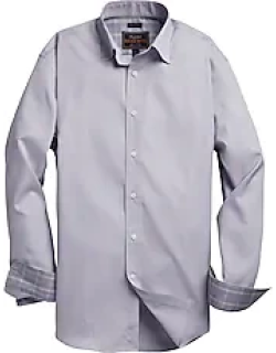 Reserved Collection Tailored Fit Spread Collar Gridded Men's Sportshirt - Big & Tall CLEARANCE