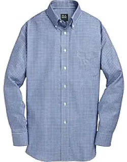 Traveler Collection Tailored Fit Button Down Collar Check Men's Sportshirt CLEARANCE