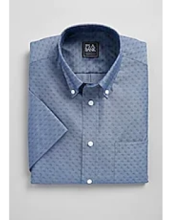 Traveler Collection Traditional Fit Short Sleeve Button-Down Collar Paisley Men's Sportshirt - Big & Tall