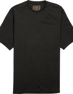 JoS. A. Bank Men's Reserve Collection Traditional Fit Pima Cotton Crew Neck T-Shirt - Big & Tall, Black, 4 X Tall