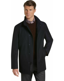 JoS. A. Bank Men's Travel Tech Tailored Fit Raincoat Clearance, Navy, 38 Short