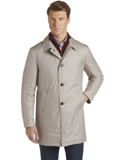 JoS. A. Bank Men's Travel Tech Tailored Fit Trench Coat Clearance, Khaki, Small