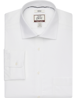 JoS. A. Bank Men's 1905 Collection Slim Fit Spread Collar Dress Shirt with brrr°® comfort - Big & Tall, White, 16 1/2x36