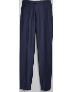 JoS. A. Bank Men's 1905 Navy Collection Tailored Fit Flat Front Suit Separates Pants - Big & Tall Clearance, Bright Navy, 50 Short