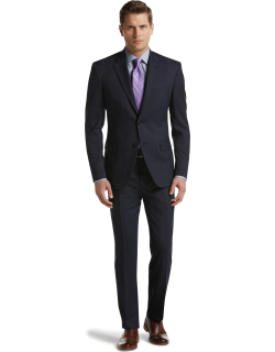 JoS. A. Bank Men's Executive Collection Traditional Fit Suit - Big & Tall Clearance, Blue, 44 X Long