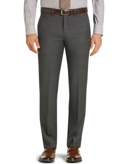 JoS. A. Bank Men's Traveler Collection Slim Fit Micro Check Suit Separate Pants Clearance, Cambridge Grey, 42 Long