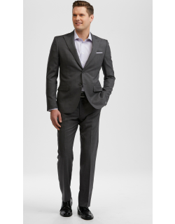 JoS. A. Bank Men's Reserve Collection Slim Fit Stripe Suit Clearance, Charcoal, 46 Regular
