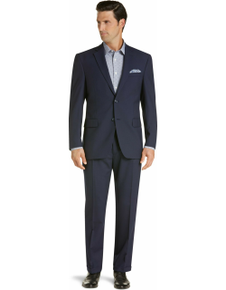 JoS. A. Bank Men's Executive Collection Traditional Fit Suit Clearance, Bright Navy, 41 Regular