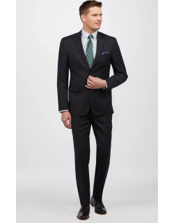 JoS. A. Bank Men's Traveler Collection Tailored Fit Suit - Big & Tall Clearance, Navy, 52 Long