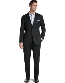 JoS. A. Bank Men's Signature Collection Tailored Fit Suit Clearance, Black, 43 Long
