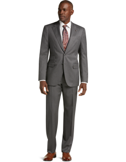 JoS. A. Bank Men's Reserve Collection Tailored Fit Stripe Liberty Suit - Big & Tall, Grey, 50 Long