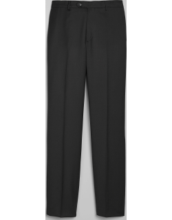 JoS. A. Bank Men's 1905 Navy Collection Tailored Fit Flat Front Suit Separate Pants, Black, 36 Regular
