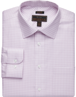 JoS. A. Bank Men's Reserve Collection Tailored Fit Spread Collar Jacquard Dress Shirt Clearance, Salmon, 15 1/2x32