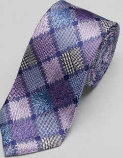 JoS. A. Bank Men's Reserve Collection Patchwork Windowpane Tie, Lavender, One