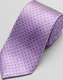 JoS. A. Bank Men's Reserve Collection Woven Dot Tie, Purple, One