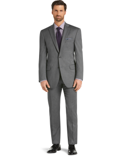JoS. A. Bank Men's Signature Collection Traditional Fit Suit Separate Jacket - Big & Tall Clearance, Mid Grey, 48 Regular