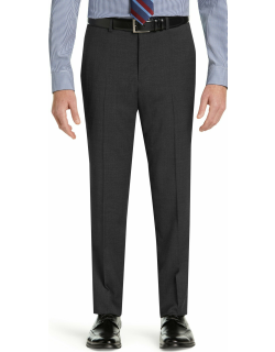 JoS. A. Bank Men's 1905 Collection Tailored Fit Suit Separate Flat Front Pants with brrr°® comfort, Dark Grey, 29 Regular