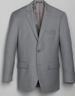 JoS. A. Bank Men's 1905 Navy Collection Tailored Fit Suit Separate Jacket Clearance, Light Grey, 36 Long
