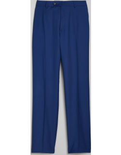 JoS. A. Bank Men's 1905 Navy Collection Tailored Fit Flat Front Suit Separate Pants, Bright Blue, 36 Regular