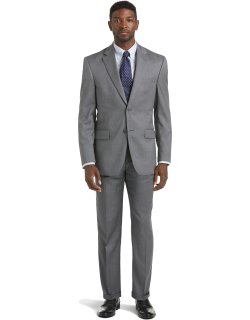 JoS. A. Bank Men's Signature Collection Traditional Fit Suit Separate Jacket - Big & Tall Clearance, Grey, 50 Regular