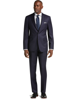 JoS. A. Bank Men's Reserve Collection Tailored Fit Stripe REDA 1865 Sustainawool™ Suit - Big & Tall, Navy, 48 Regular