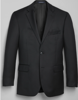 JoS. A. Bank Men's 1905 Navy Collection Tailored Fit Suit Separate Jacket - Big & Tall Clearance, Black, 62 Regular
