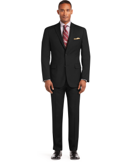 JoS. A. Bank Men's 1905 Collection Tailored Fit Textured Suit Separate Jacket - Big & Tall, Black, 50 X Long
