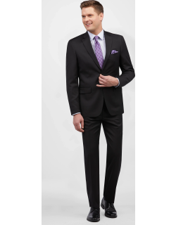 JoS. A. Bank Men's Traveler Collection Tailored Fit Suit Clearance, Black, 42 Regular