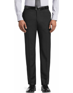 JoS. A. Bank Men's Reserve Collection Tailored Fit Flat Front Suit Separate Pants Clearance, Black, 32 Short
