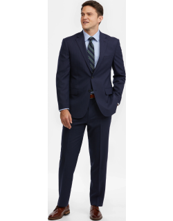 JoS. A. Bank Men's Executive Collection Tailored Fit Suit, Navy, 46 Short
