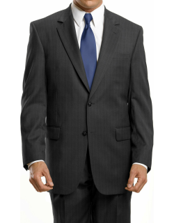 JoS. A. Bank Men's Signature Collection Traditional Fit Herringbone Suit Clearance, Grey, 40 Long