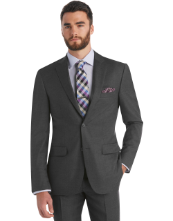 JoS. A. Bank Men's Traveler Collection Tailored Fit Suit Separate Jacket - Big & Tall, Grey, 50 Long