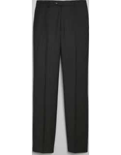 JoS. A. Bank Men's 1905 Navy Collection Tailored Fit Flat Front Suit Separates Pants Clearance, Black, LONG 31