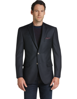 JoS. A. Bank Men's Reserve Collection Tailored Fit Blazer, Navy, 42 Long