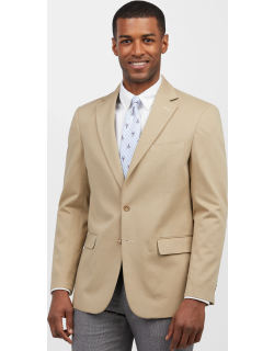 JoS. A. Bank Men's 1905 Collection Tailored Fit Sportcoat Clearance, Stone, 40 Regular