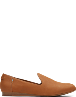 TOMS Tan Oiled Nubuck Women's Darcy Flats Shoes