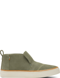 TOMS Vetiver Grey Paxton Slip On Green Suede Ortholite Shoes