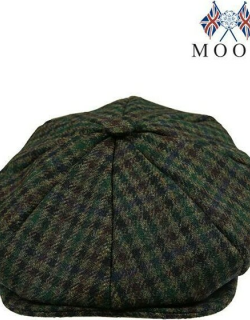 Dents Abraham Moon Yorkshire Dogtooth Check 8 Piece Cap In Forest