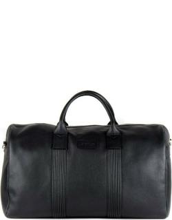 Dents Pebble Grain Leather Holdall In Black