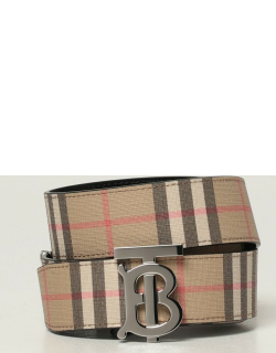 Burberry reversible belt with vintage check and monogram motif